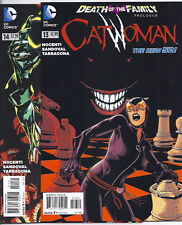 DC COMICS THE NEW 52! CATWOMAN #13 2ND PRINT VARIANT AND #14 DEATH OF THE FAMILY