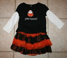 EUC Gymboree Girls Size 2T Halloween Fall Top Costume Skirt Ghost Outfit