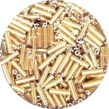 Glasperlen Stifte 6 mm topas mit Silbereinzug 17 g