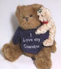 "Bearington Bears. Grandpa Hugs-A-Lot. 10"" Dressed Boy Teddy Bear. Fully Jointed."