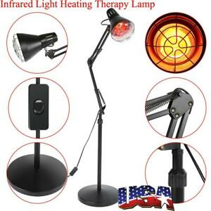 Infrared Red Heat Light Therapeutic Therapy Lamp Pain Relief Floor Stand Lamp US
