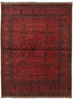 "Hand-knotted Carpet 4'9"" x 6'6"" Traditional Vintage Wool Rug"