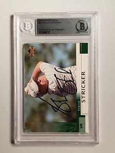 Steve Stricker Signed 2002 Upper Deck Golf #21 AUTO BGS BAS Authentic