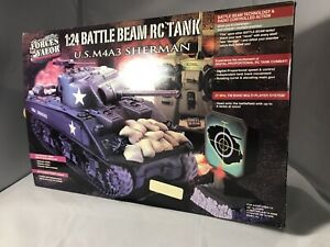 Rare Forces of Valor 1:24 Radio Controlled US M4A3 Sherman Tank MIB  Tr12