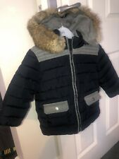 tartine et chocolat boys Coat Age 2 Real Fur Hood