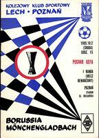 UEFA - EC III 85/86 Lech Poznan - Borussia Mönchengladbach, 02.10.1985
