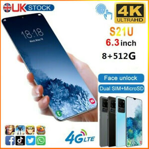 "6.3"" Large Screen Android 6.0 Smartphone Quad Core 2SIM  Mobile Phone UK 2021"