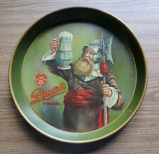 "OLD BARTLES BEER TRAY "" Night Watchman "" SYRACUSE NY Pre Prohibition"