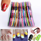 30 Rolls Mixed Colors Striping Tape Line DIY Nail Art Tips Decoration Sticker