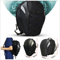 Black Oxford Cloth Motorcycle Waterproof Rear Seat Bag High Capacity Helmet Bag