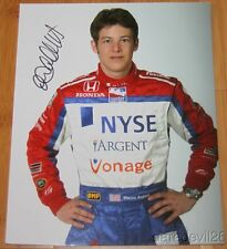 Marco Andretti signed NYSE Indy Car 8x10 Portrait Photo