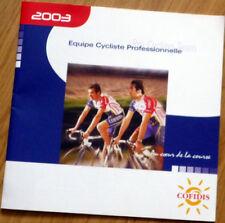 Cyclisme - Guide Équipe COFIDIS année 2003 - COMPLET