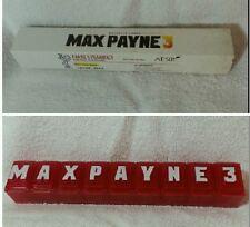 Max Payne 3 prescription pill box Rockstar Games Max Payne 3 rare promo swag