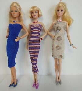 Fits Model Muse & Barbie Fashionistas 9pc Lot Dresses & Jewelry NO DOLLS d4e #8