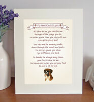 Boxer Thank You FROM THE DOG Poem 8 x 10 Picture/10x8 Print Novelty Gift-No2