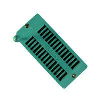 28P 28-Pin 2.54mm Universal Narrow ZIF Test DIP IC Socket Connector