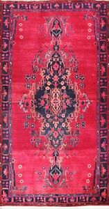 Vintage Medallion Traditional Oriental Area Rug Wool Hand-knotted Red Carpet 5x9