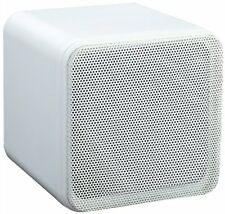 4'' 80W SURROUND SOUND BOOKSHELF CUBE SPEAKERS WHITE (SUPPLIED AS A PAIR) New G