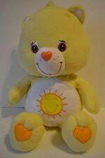"Care Bear Funshine Bear Stuffed Plush 24"" Yellow Sun 2003 TCFC"