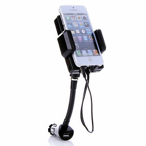 FM Transmitter Hands Free Charger Car Holder for iPhone 5 6 Ipod Blackberry HTC