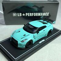 1/64 MINI GT-R LB WORKS Nissan GT-R R35 GT Wing Tiffany Blue Ltd 500 pcs