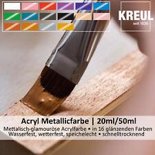 (100ml = 14.95 EUR) Kreul Hobby Linie Acryl-Metallicfarbe, 20ml/50ml, lichtecht