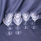 Orrefors Illusion Glass Works Sweden Set of 10 Small White Wine Glasses