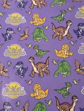 Lot of 6 Vintage 1997 Land Before Time Dinosaur Gift Wrapping Paper 75 Sq ft