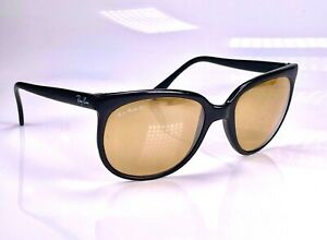 1990's B&L Ray Ban RB-50 Cats 1000, W0635 Mirrored Sunglasses + Case