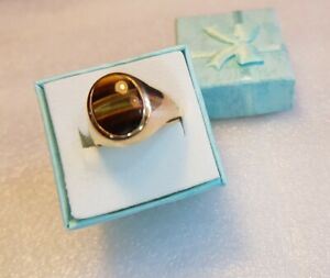 9ct Yellow Gold Tiger Eye Ring
