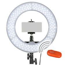 Remote Selfie Licht SET LED-Ringleuchte RLS-12 Portrait Ringlicht mit Halterung
