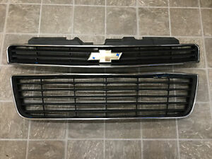 2006 2007 2008 2009 2010 2011 Chevy Impala Front Bumper Grill Set OEM
