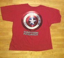 Disney Store CAPTAIN AMERICA Red Organic Cotton Tee T SHIRT Short Sleeve XL