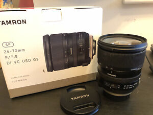 TAMRON SP 24-70mm 2.8 Di VC USD G2 Nikon Fit Lens