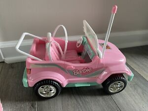 Vintage 1998 BARBIE REMOTE CONTROL  RC Pink Jeep Car