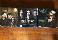The Twilight Saga 3 Board Games Collection Twilight Movie New Moon & Eclipse VGC