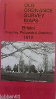 Old Ordnance Survey Maps Bristol Frenchay Fishponds & Stapleton 1912 Godfrey Ed