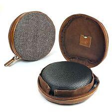 Tuff Luv Herringbone Tweed NFC Case for Bang & Olufsen B&o BeoPlay A1 -brown