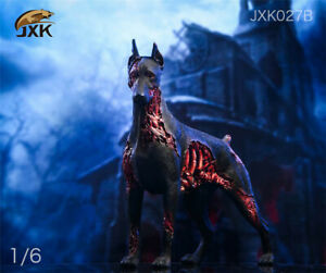 JXK 1/6th JXK027B Zombie Doberman Dog Pet Animal Statue For 12inch Action Figure