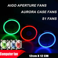 12*12CM Computer Case PC Cooling Fan Adjust LED 120mm Quiet Cooler