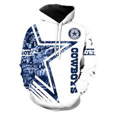 Dallas Cowboys Football Hoodies Men's 3D Print Pullover Hooded Sweatshirt
