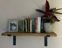 Scaffold Board Rustic Shelves Industrial Solid Wood + 2 Brackets