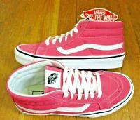 Vans Womens Sk8-Mid Reissue Pink Lemonade True White Skate shoes Size 7.5 NWT