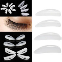 4 Pairs Eyelash Perming Silicone Curler Pads Patch Shield Rods Embedded Ridges--