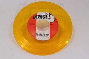 "Bob Marley 7"" 45 Clear Yellow Record Dont Rock My Boat Sugar Sugar Impact Reggae"