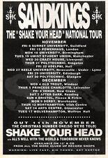 "16/11/91 Pgn41 Advert: Sandkings shake Your Head Single & National Tour 7x5"""