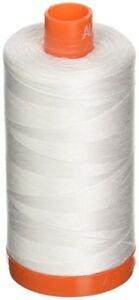Aurifil Mako Cotton Thread 50 Weight 1422 Yard Spool Color 2021 Natural White