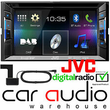 "JVC KW-V235DBT 6.2"" Double Din DVD Bluetooth iPhone DAB Radio Stereo & Aerial"