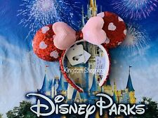 2021 Disney Parks Valentine's Day Mickey Minnie Mouse Sequined Ears Headband New