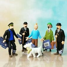 Lot Figurine Tintin Collection PVC BD Dessin Animé Aventure jouet collector toy